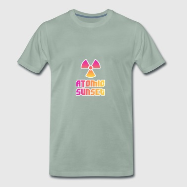 ATOMIC SUNSET - Premium-T-shirt herr