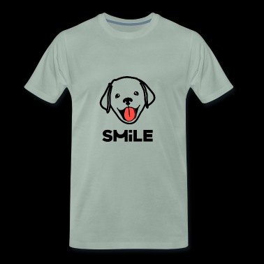 Labrador Retriever puppy Smile - Men's Premium T-Shirt