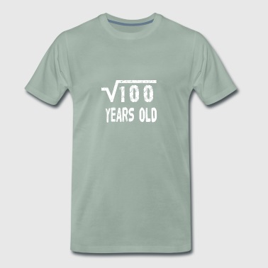 Square Root of 100 10 yrs years old 10th birthday - Men's Premium T-Shirt