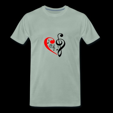 Music notes festival concert band gift idea - Men's Premium T-Shirt