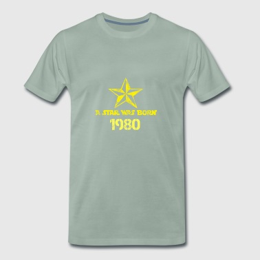 a Star was born 1980 - Männer Premium T-Shirt