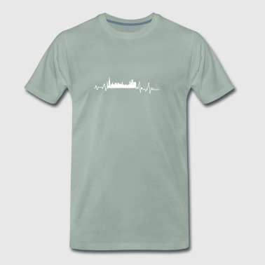 Heartbeat Chicago t-shirt gave amerikanske by - Herre premium T-shirt