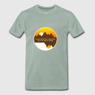 A good traveler has no plans - Men's Premium T-Shirt