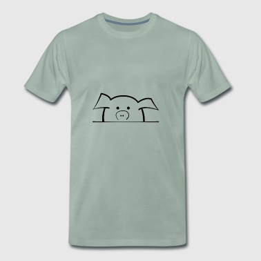 Sweet pig looks shy - Men's Premium T-Shirt