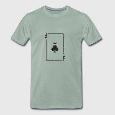 Playing Card Cross Gift Jack Poker Skat Player - Men's Premium T-Shirt