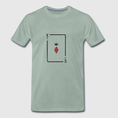 Kortspill Gift Check King Poker Skat Player - Premium T-skjorte for menn