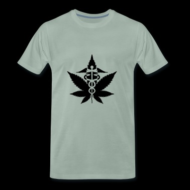 Caduceo marihuana Weed Cannabis - Camiseta premium hombre