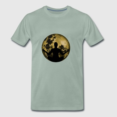 Yoga meditation moon - Men's Premium T-Shirt