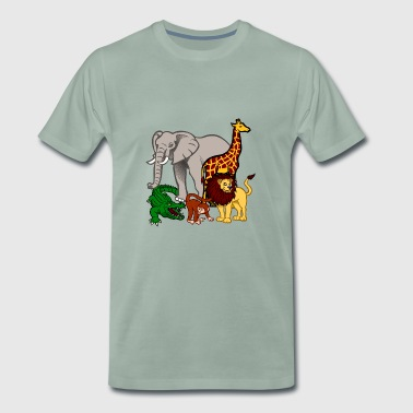 African wildlife in the jungle - Men's Premium T-Shirt