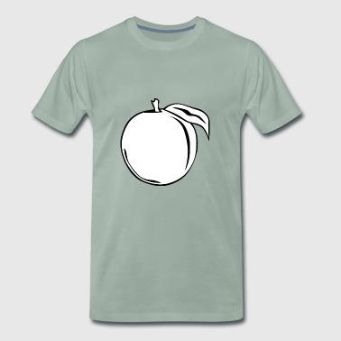 peach nectarines peaches nectarines fruits - Men's Premium T-Shirt