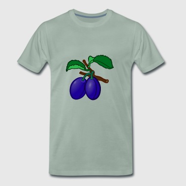 plum plum veggie vegetables fruits8 - Men's Premium T-Shirt
