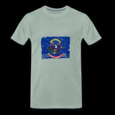 North Dakota vintage flag - Men's Premium T-Shirt