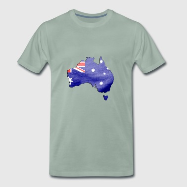 Australia patch - Premium T-skjorte for menn