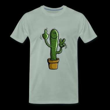 Prickly Cactus - Plant - Comic - Gift - Men's Premium T-Shirt
