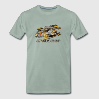 Spaceship - GameArt - Mannen Premium T-shirt