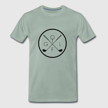 Golf Cross Symbol Bat Ball Club Gift - Men's Premium T-Shirt
