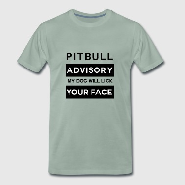 Pitbull Attention elskelig Licking ansiktet gave - Premium T-skjorte for menn