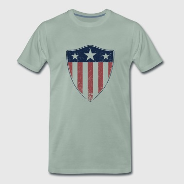 SHIELD DISTRESSED - Men's Premium T-Shirt