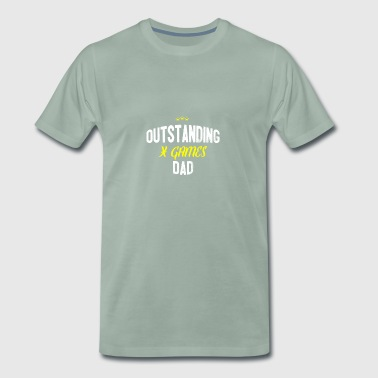 Distressed - OUTSTANDING X GAMES DAD - Men's Premium T-Shirt