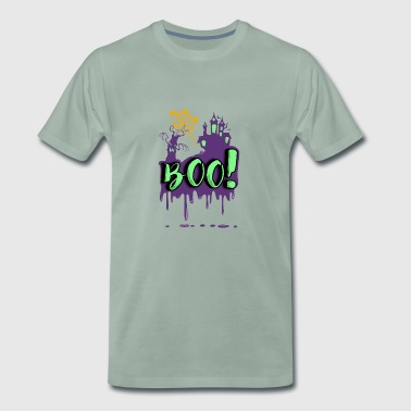 Spookachtige - Chateau - Ghosts eng - Gift - Mannen Premium T-shirt