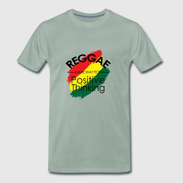 Reggae reggaeton music grass chilling gift - Men's Premium T-Shirt