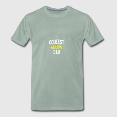 Distressed - COOLEST RUGBY DAD - Men's Premium T-Shirt
