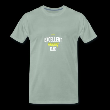 Distressed - EXCELLENT RUGBY DAD - Men's Premium T-Shirt
