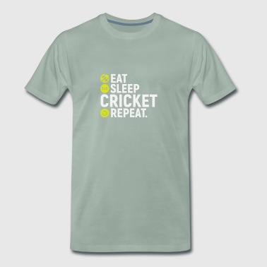 Eat, sleep, cricket, repeat - gift - Men's Premium T-Shirt
