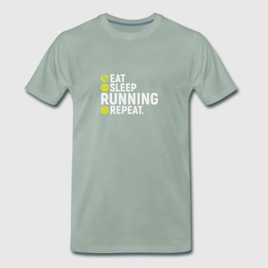 Eat, sleep, run, repeat - gift - Men's Premium T-Shirt