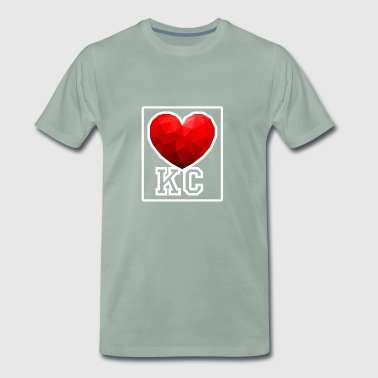 Kansas City Heart - Premium T-skjorte for menn