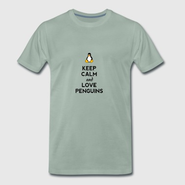 keep penguin Ironie Humor Pinguin pc Nerd Admin lo - Männer Premium T-Shirt