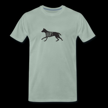 Adopt dog - Men's Premium T-Shirt