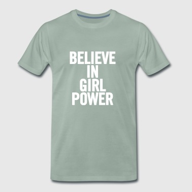 Tro In White Girl Power - Premium-T-shirt herr