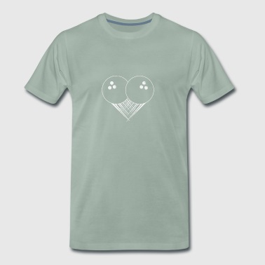 I love bowling, a heart for bowling gift - Men's Premium T-Shirt