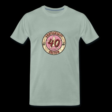 40th birthday gift 1978 vintage anniversary - Men's Premium T-Shirt