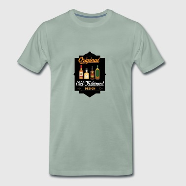 Original Old Fashioned Design | Whikey retro - Premium T-skjorte for menn