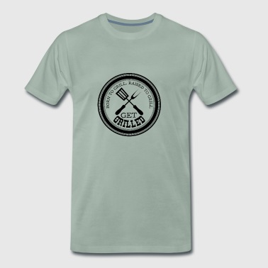 Barbecue BBQ-tijd cadeau barbecue worstvlees - Mannen Premium T-shirt