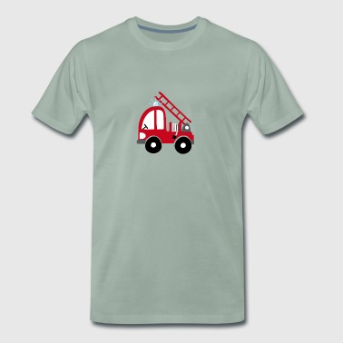 Fire Department Fire Truck Kids Gift Guys Cool - Mannen Premium T-shirt