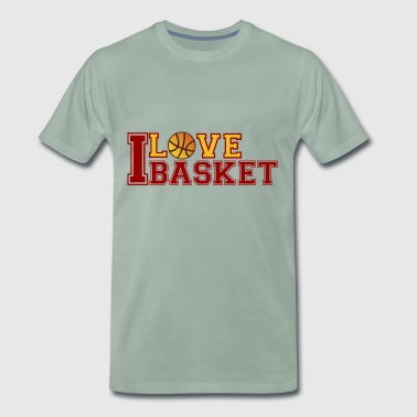 Love-Basketball - Premium T-skjorte for menn