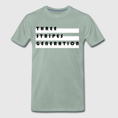 Tre striber generation - Herre premium T-shirt
