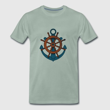 paddle boat sail boat rowing boat sailboat67 - Men's Premium T-Shirt
