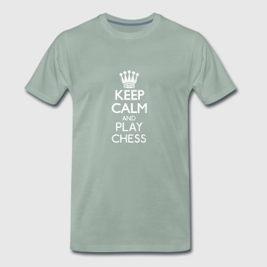 Keep calm and play chess. - Men's Premium T-Shirt