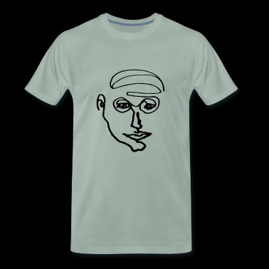 Graphic men portrait - Men's Premium T-Shirt