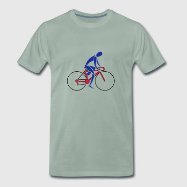 Bike Racer, Fluid - Men's Premium T-Shirt