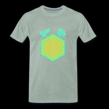 Flower of Life Love Life - Men's Premium T-Shirt