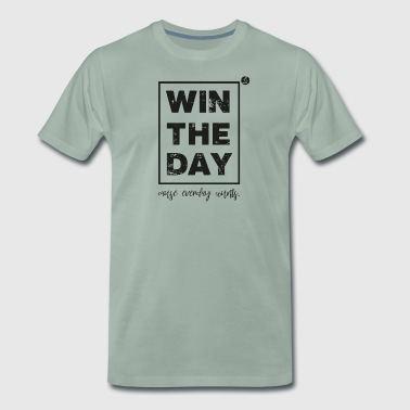 Win the Day - sports and motivation - Men's Premium T-Shirt