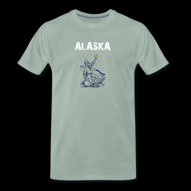 Nation-Design Alaska Gold Hunter Zii - Mannen Premium T-shirt