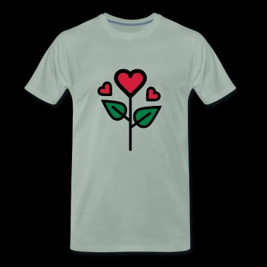 Valentine's Rose in heart shape - Men's Premium T-Shirt