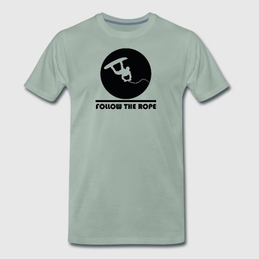 Follow the rope wakeboard gift - Men's Premium T-Shirt