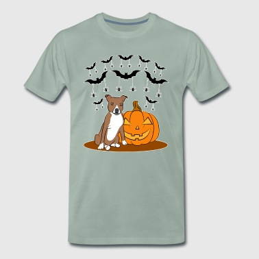 Seated Staffy - Men's Premium T-Shirt